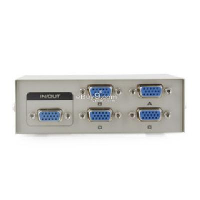 4 Port VGA Monitor LCD TV PC Video Sharing Switch Box WD180717-White
